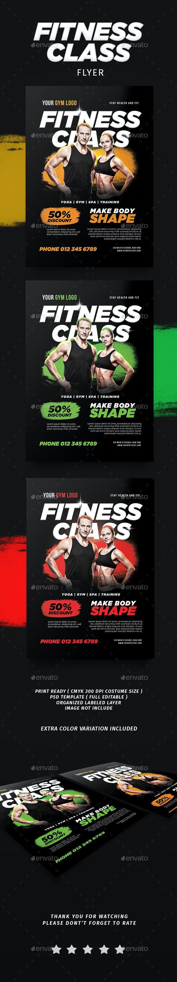 Fitness Class Flyer - Flyers Print Templates