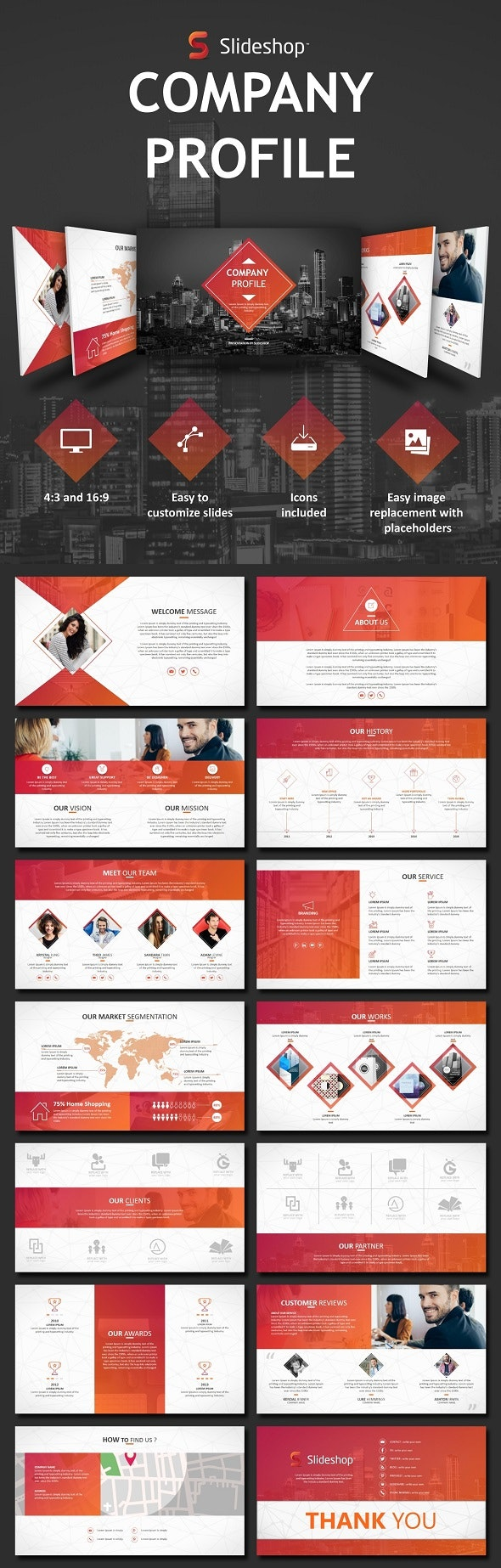 Company Profile - PowerPoint Templates Presentation Templates