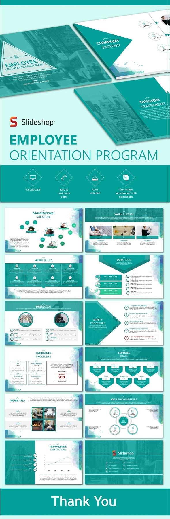 Employee Orientation Program - PowerPoint Templates Presentation Templates