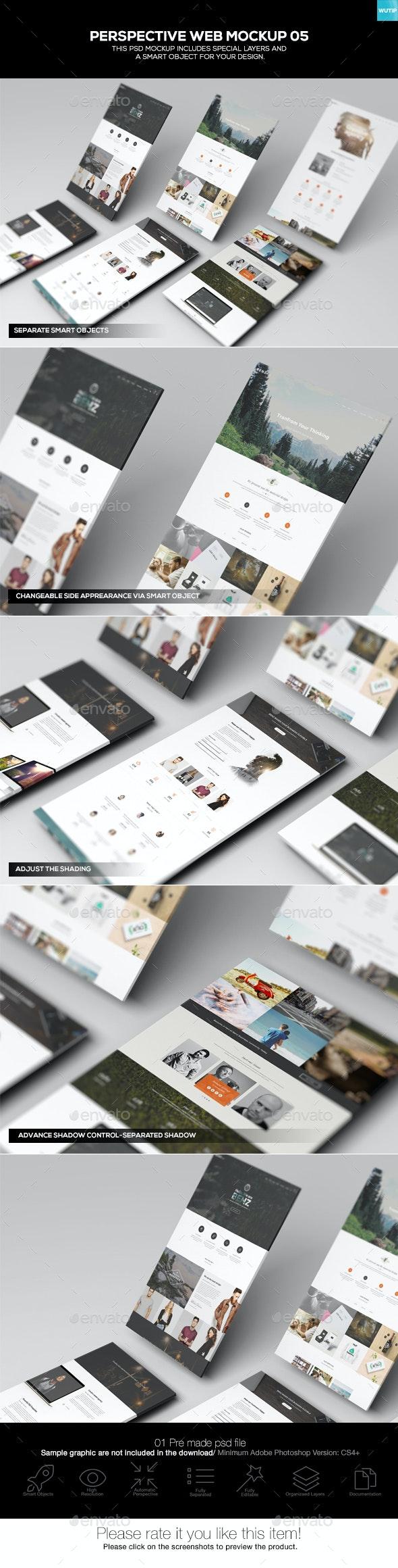 Perspective Web Mockup 05 - Website Displays