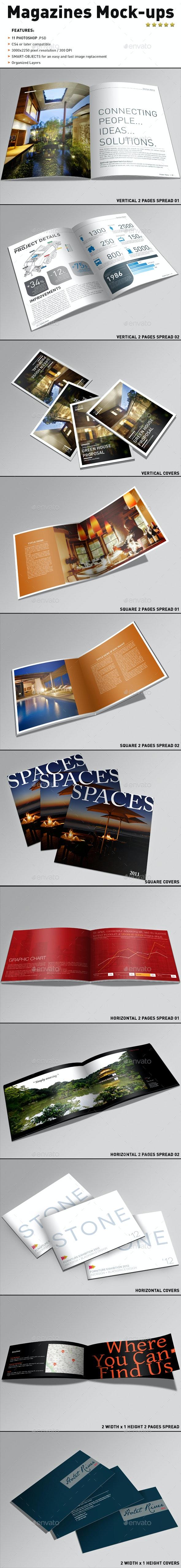 Magazines Mock-ups - Magazines Print