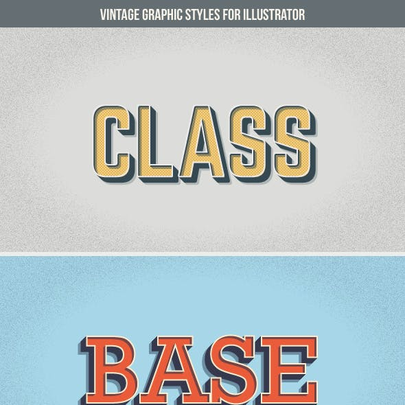 Vintage Graphic Styles for Illustrator