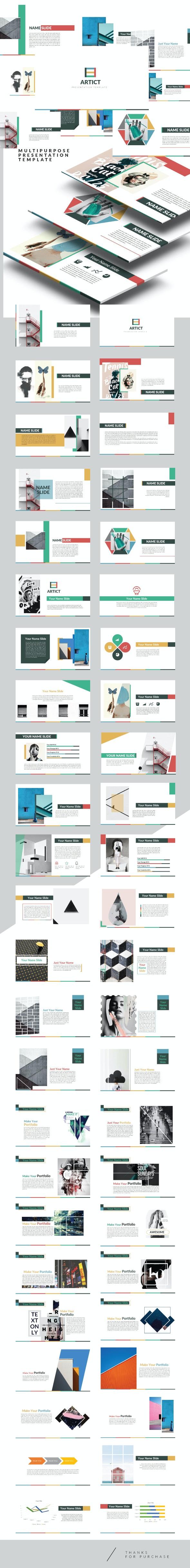 Artic - Multipurpose Keynote Creative template - Creative Keynote Templates