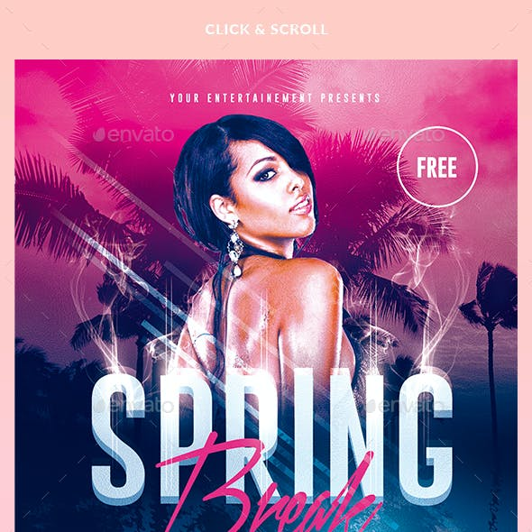 Spring Break Party | Psd Template