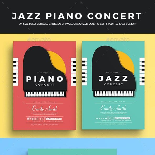 Jazz Piano Concert Flyer
