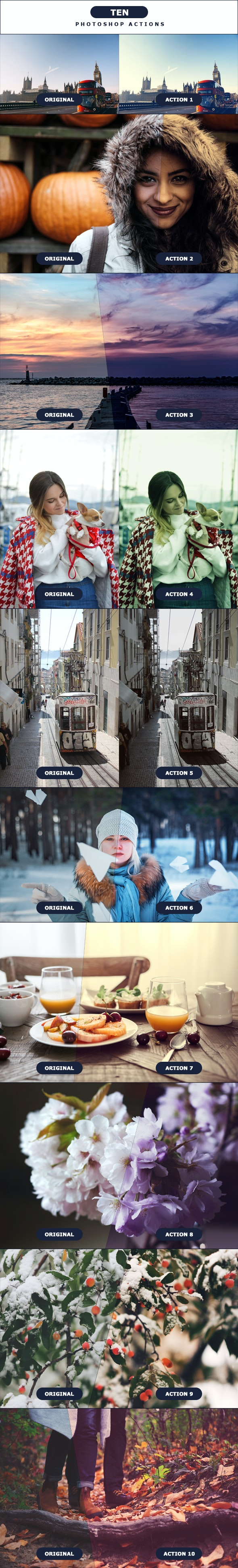 TEN - Photoshop Actions 5 - Photo Effects Actions