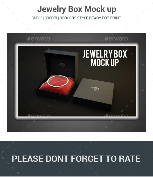 Jewelry Box Mock up - Logo Product Mock-Ups