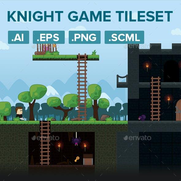 Warrior Platformer Game Tileset and Assets