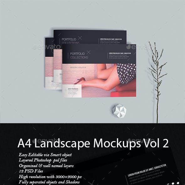 A4 Landscape Mockup Vol2