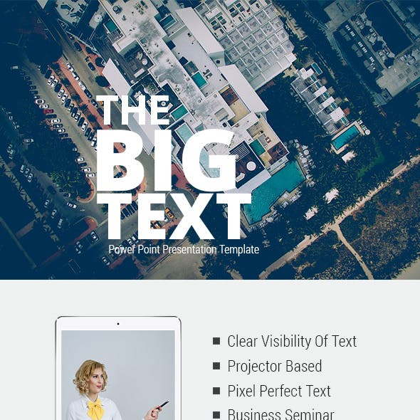 The Big Text Power Point Presentation