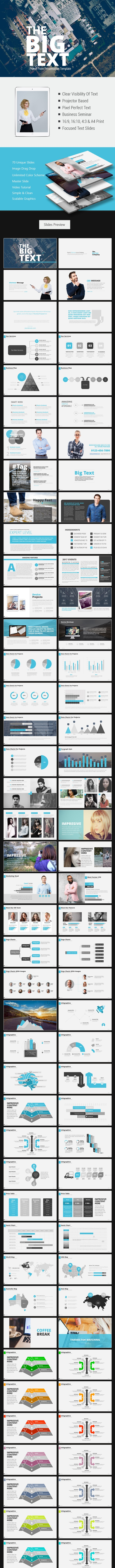 The Big Text Power Point Presentation - Business PowerPoint Templates