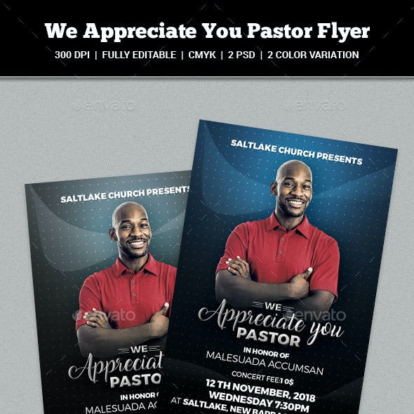 We Appreciate You Pastor Flyer