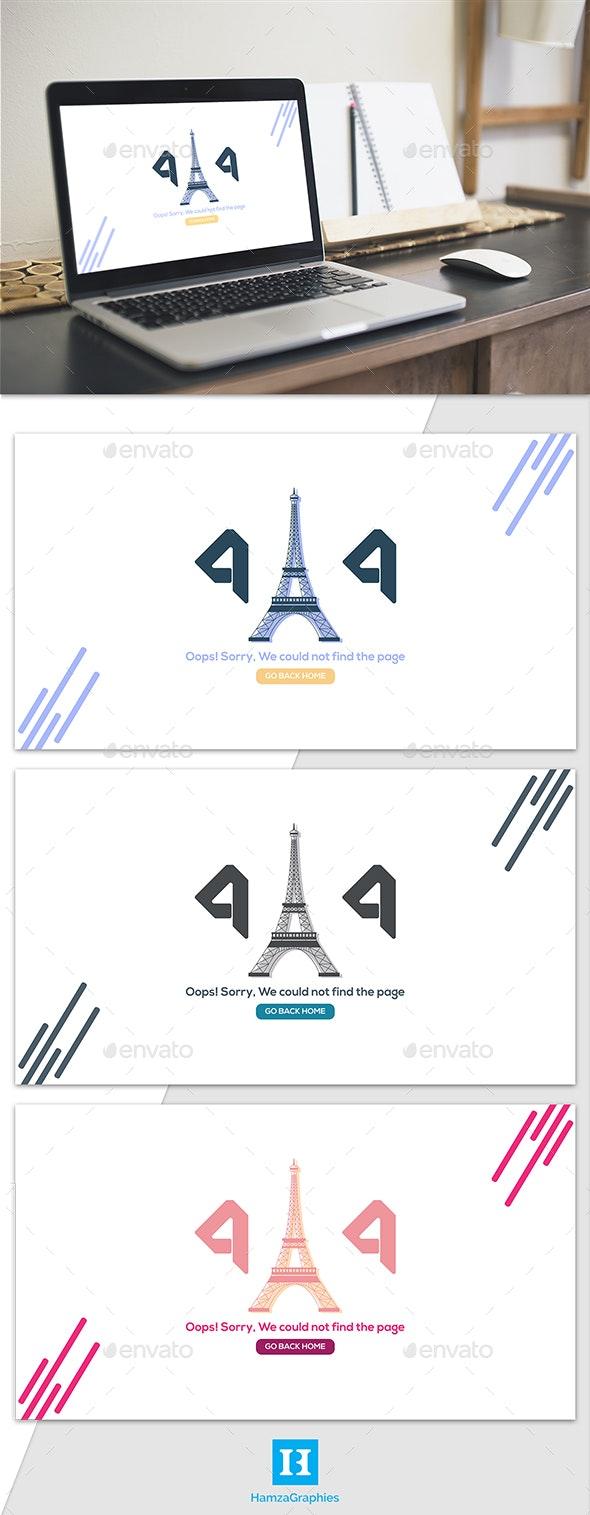 404 Paris - 404 Pages Web Elements