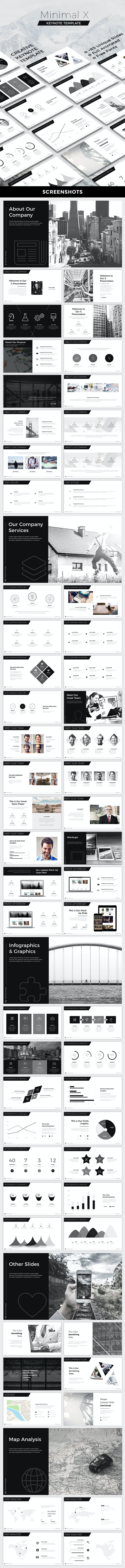 Minimal X Keynote Template - Creative Keynote Templates