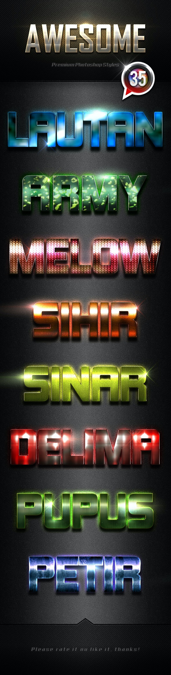 Photoshop Text Effects Vol.35 - Text Effects Styles