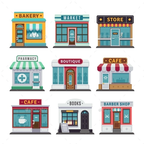 Retail Business Urban Shop - Buildings Objects