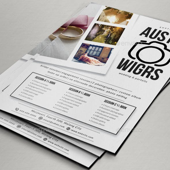 Photography Flyer / Pricing Sheet