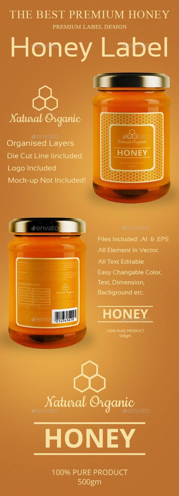 Honey Label Design Templates - Packaging Print Templates