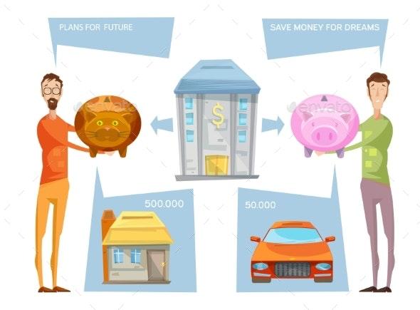 Achieving Financial Goals Concept - Conceptual Vectors