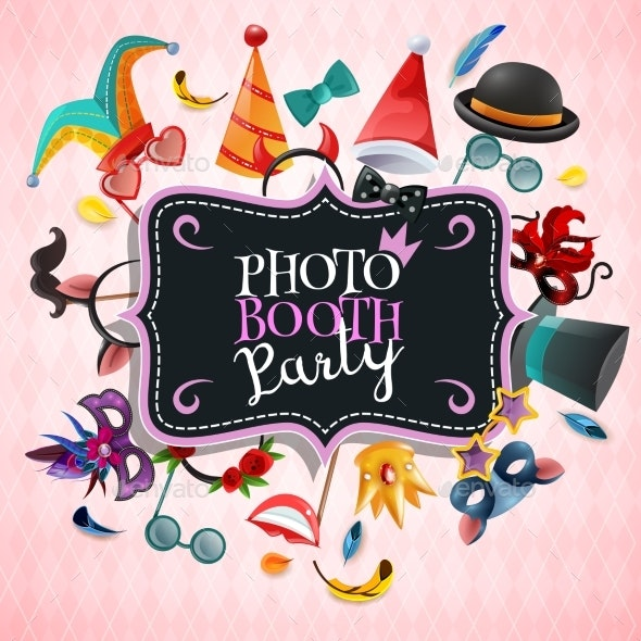 Photo Booth Party Background - Seasons/Holidays Conceptual