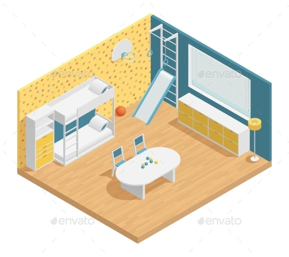 Children Room Composition - Man-made Objects Objects