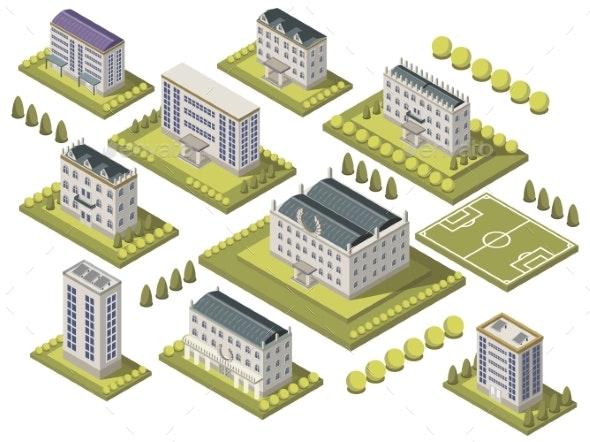 Isometric University Set - Buildings Objects
