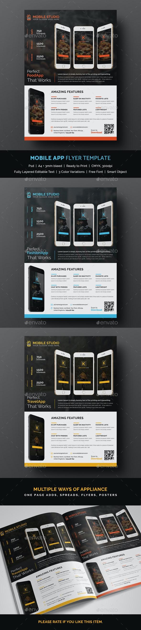 Mobile App Flyer Template - Commerce Flyers