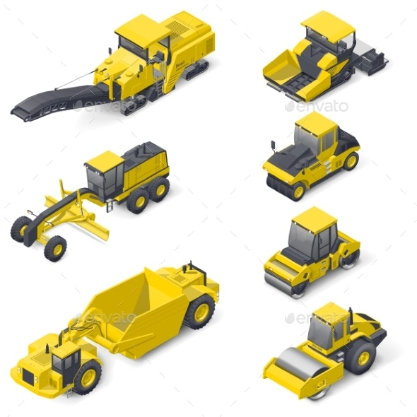 Transport for Laying and Repair of Asphalt - Miscellaneous Vectors