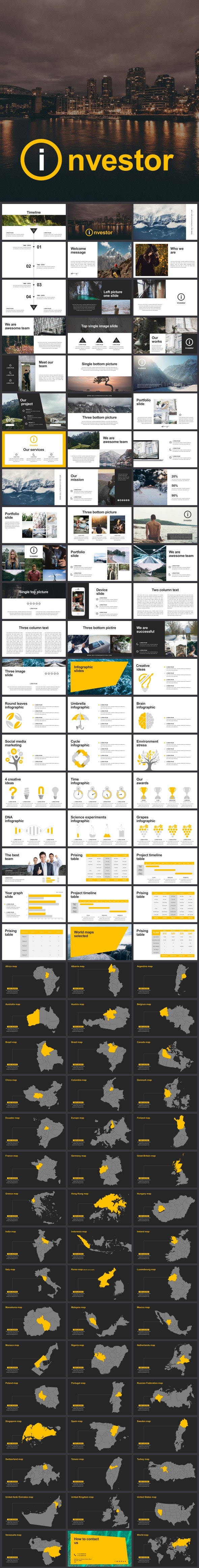 Investor Google Slides Template - Google Slides Presentation Templates