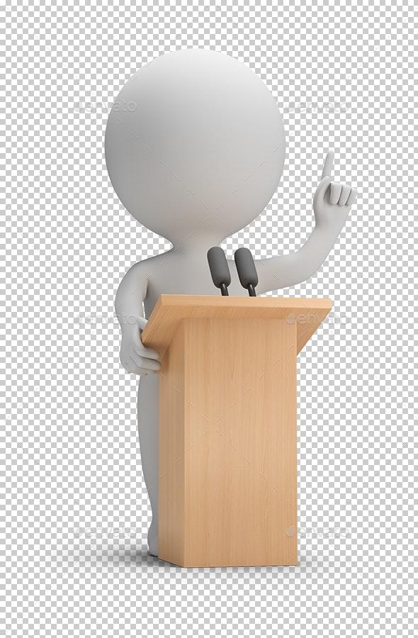 3D Small People - Speaking - Characters 3D Renders