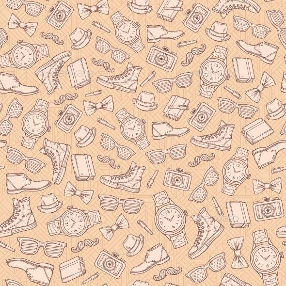 Hipster Seamless Pattern - Patterns Decorative
