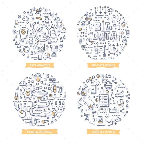 Big Data Doodle Illustrations