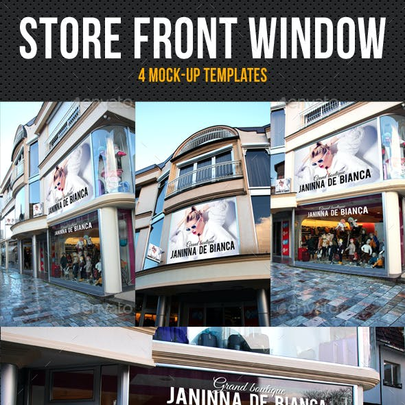 Store Front Window Mock-Up Pack 02