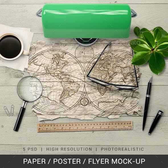 Paper / Poster / Flyer Mock-Up