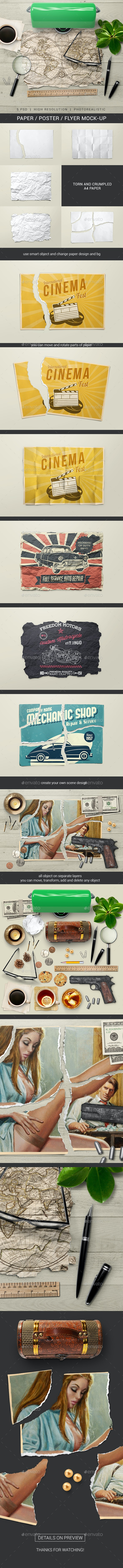 Paper / Poster / Flyer Mock-Up - Miscellaneous Print