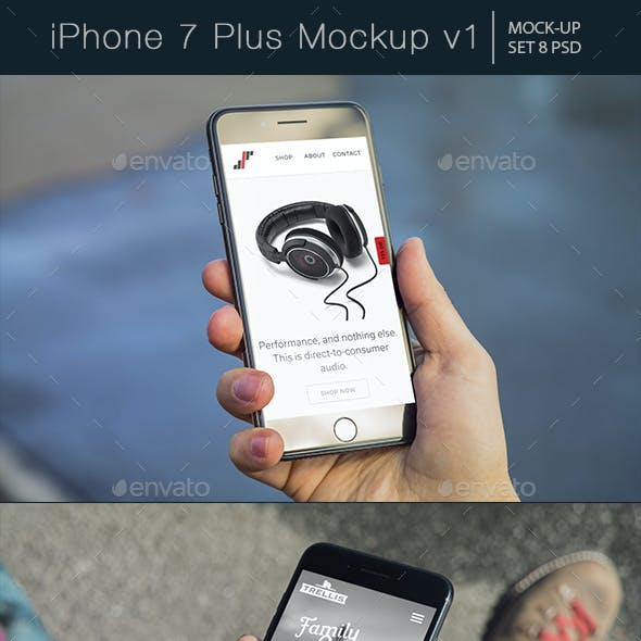 iPhone 7 Plus Mockup v1