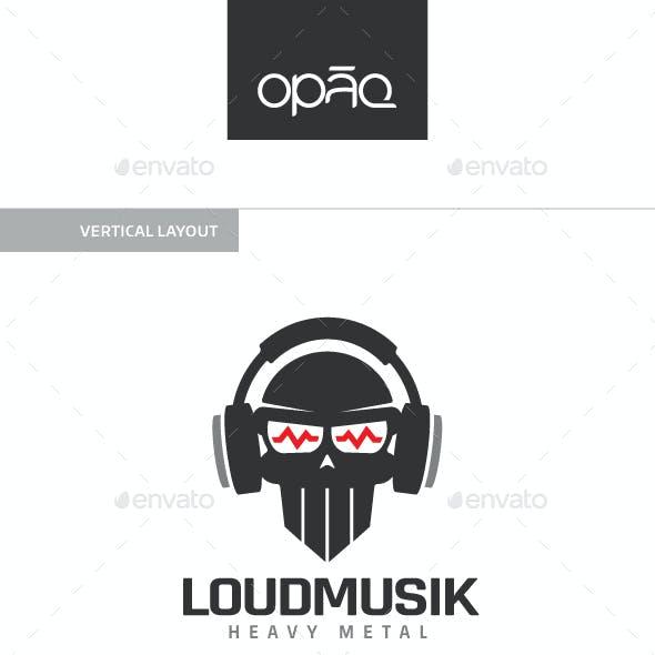 Loud Music Skull Logo