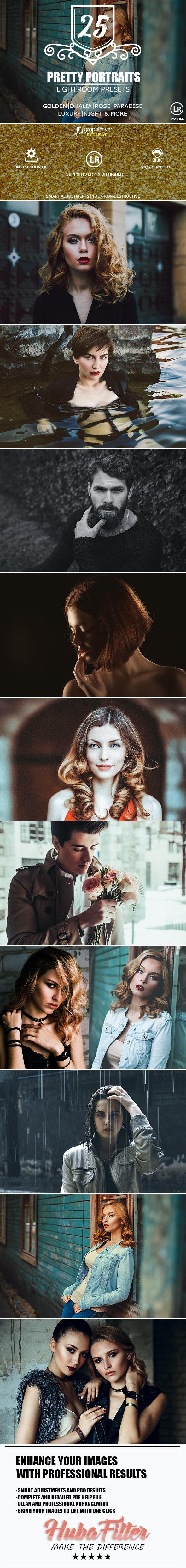 25 Pretty Portraits Lightroom Presets - Portrait Lightroom Presets