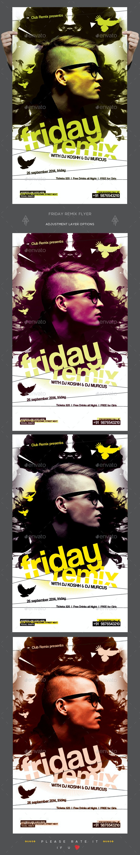 Friday Remix Flyer - Clubs & Parties Events