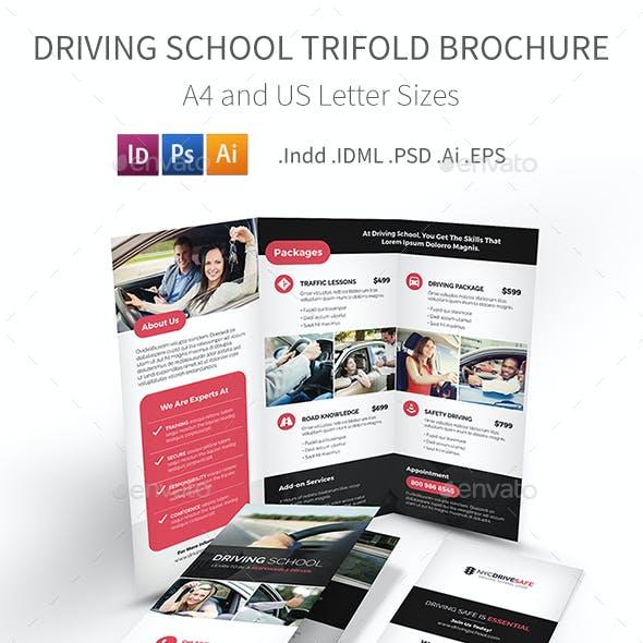 Driving School Trifold Brochure