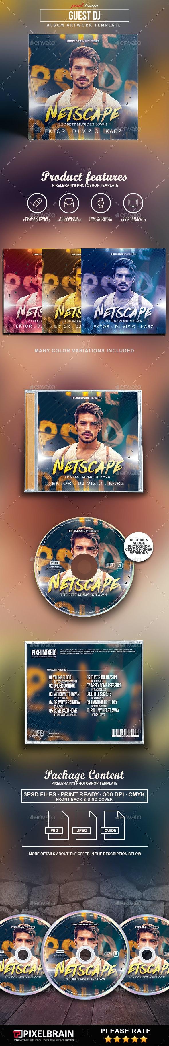Guest Dj CD Cover Artwork - CD & DVD Artwork Print Templates
