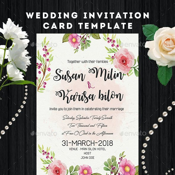 Wedding Invitation Card Flyer