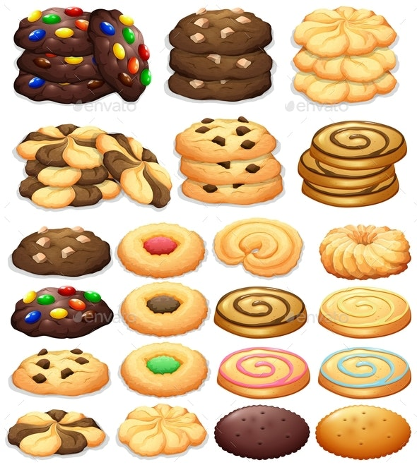Different Kind of Cookies - Food Objects