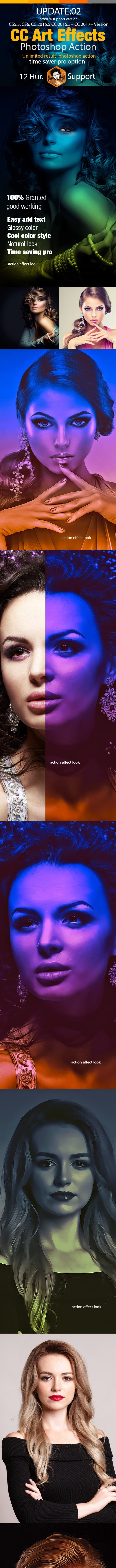 CC Art Effect Photoshop Action - Actions Photoshop
