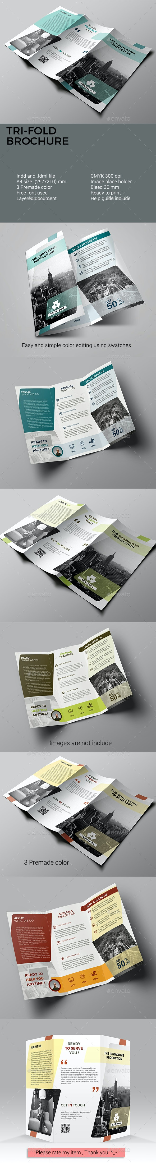 Trifold Brochure - Corporate Business Cards
