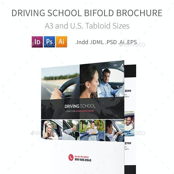 Driving School Bifold / Halffold Brochure