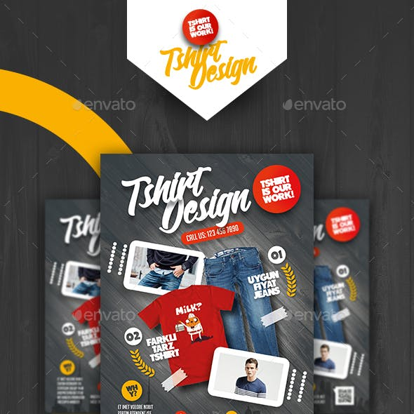 T-Shirt Shop Flyer Templates