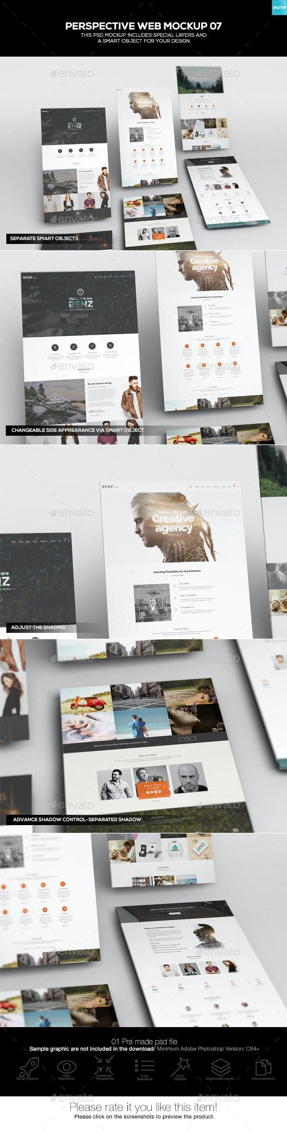 Perspective Web Mockup 07 - Website Displays