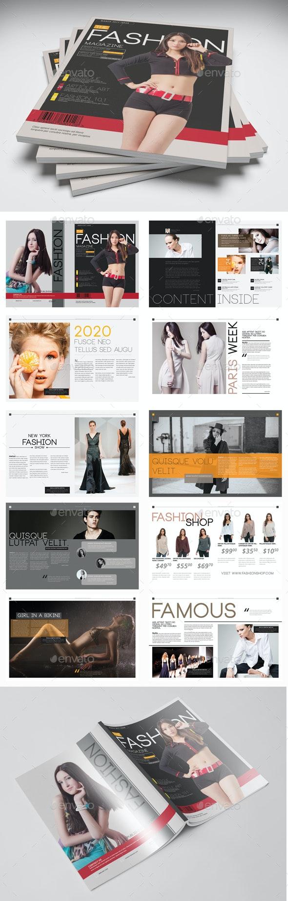 Fashion Magazine Template - PSD - Magazines Print Templates