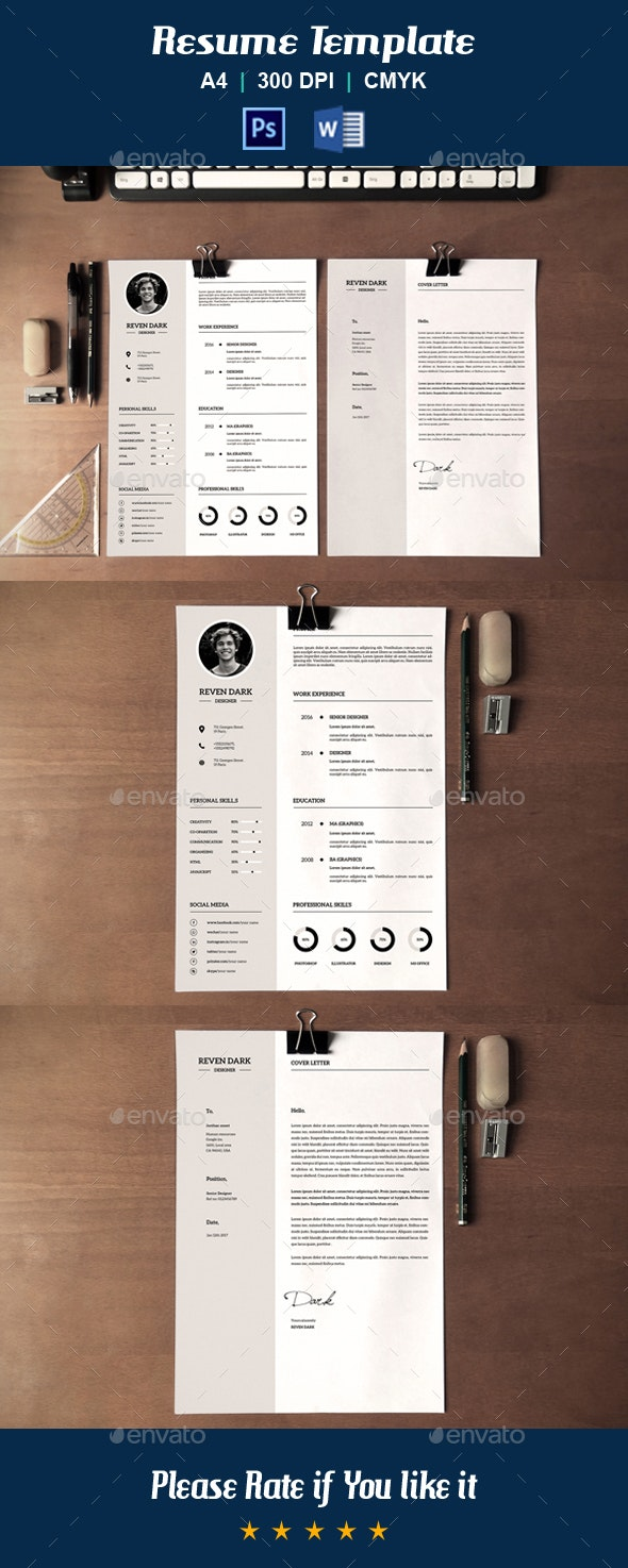 Clean Resume Template-V21 - Resumes Stationery